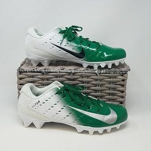 EUC Nike Vapor Cleats, Mens 9. Green/White D2E